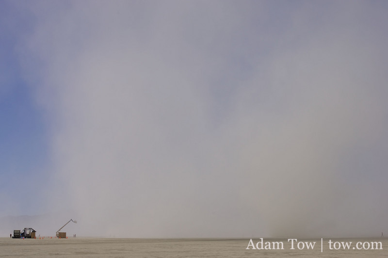 Another dust storm in the distance