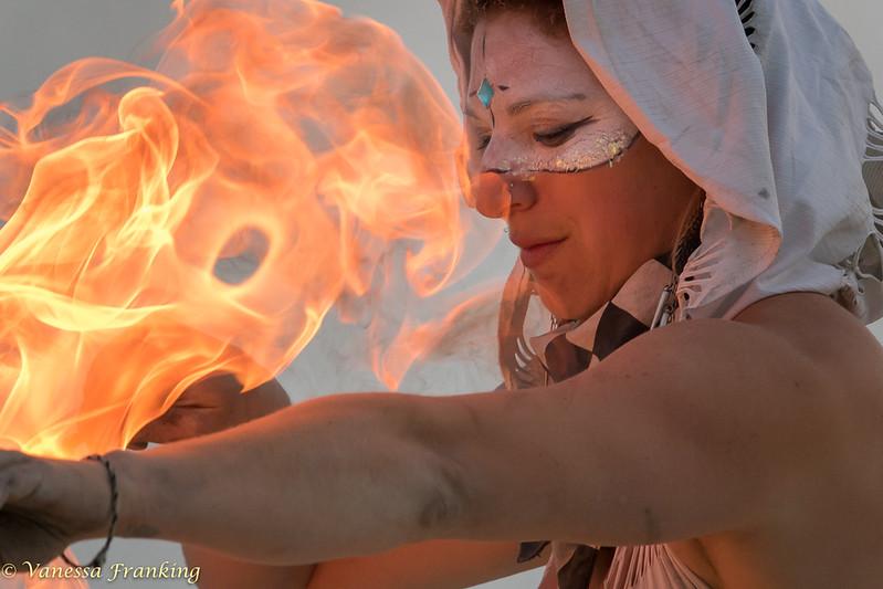 Fire Dancer Sari Blum