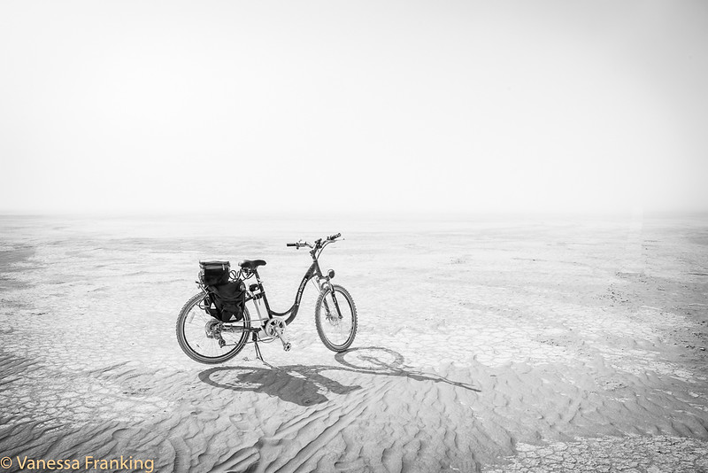 My bike ready for another day in the dust.