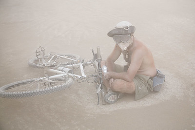 in a dust storm