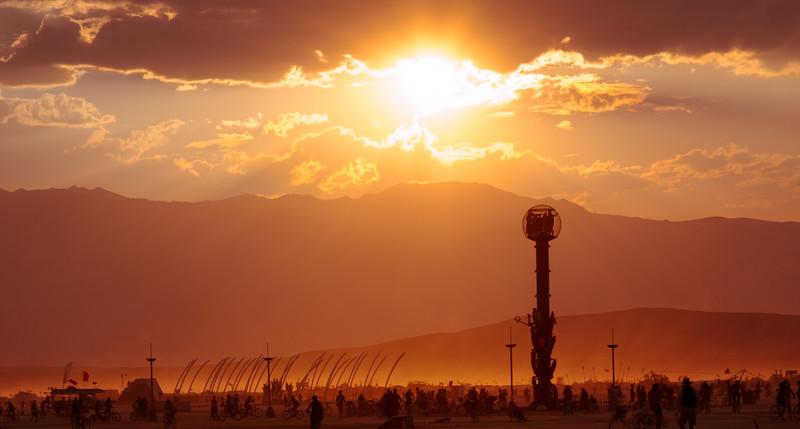 Dust Storm Sunset  |  Burning Man