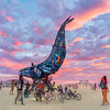 The Space Whale was in a perfect location for maximum traffic, right at 6 O'Clock and the Esplanade, just in front of Center Camp. You coulnd't help but pass it at least ten times or more. Each time it looked different and wonderful.
