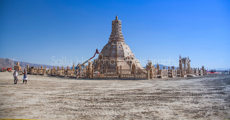 Temple of Grace Under Construction~Burning Man 2014