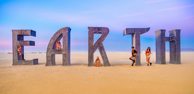 Remember those five German girls from the first set of Burning Man photos I posted from this year? Sure you do! Well, here they are, back for more!