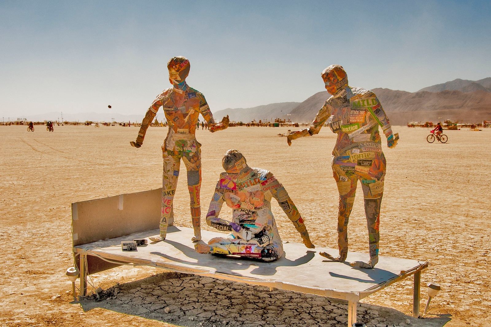 Burning Man, not on fire