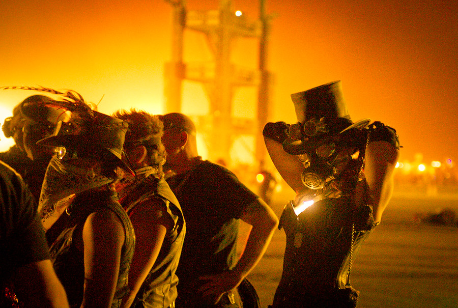 Daily Photo(s): One Week Till Burning Man!A few steampunk partiers get ready for the night of the burn.- Trey RatcliffSee the rest of this batch (and a link to all Burning Man photos) here at the Stuck in Customs blog.