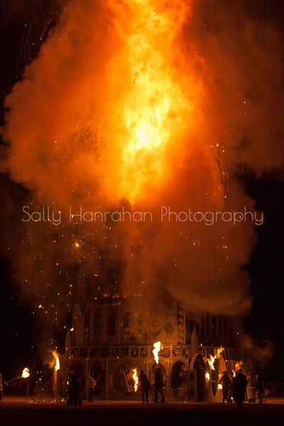 Totem of Confessions Burn ~ Burning Man 2015
