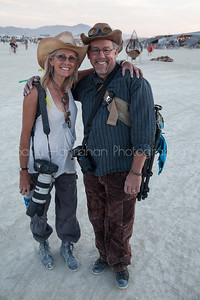 Mark Hammon and Sally Hanrahan~Burning Man 2015