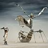 Sally and Flying Mantis at Burning Man