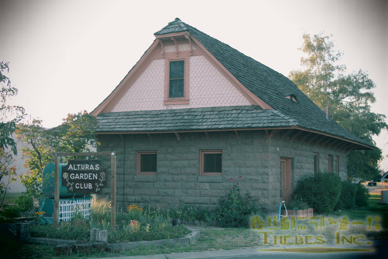 With a history as a Union Pacific stop, several tracks run through town. This station house was converted to a clubhouse.