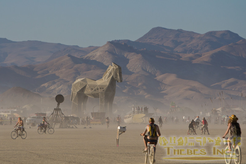 The Trojan Horse (by Douglas Bevans) is ready for its pending immolation