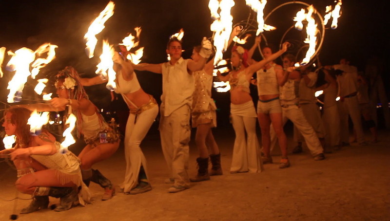 New York troupe performs at the Man Burn