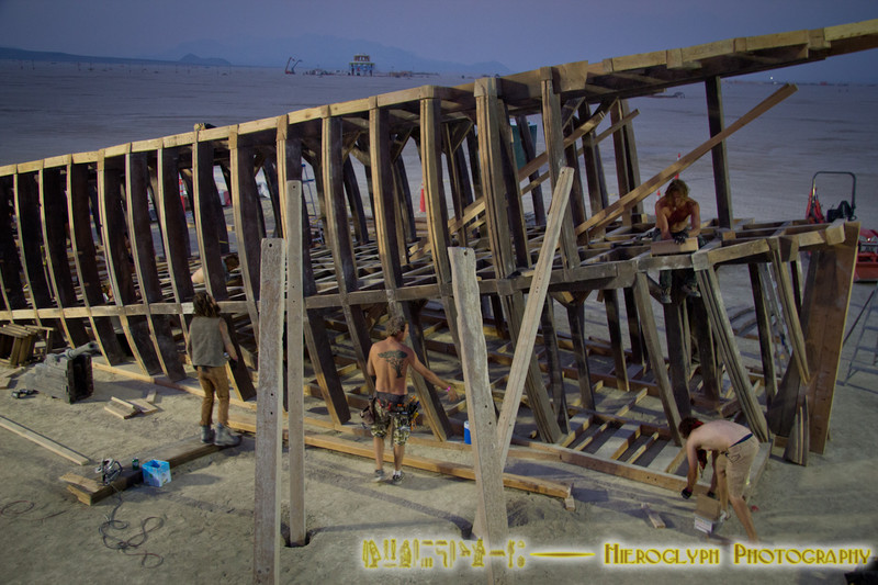 """Building the """"ship"""" by the Pier"""