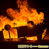 The BLM jeep was ignited with a molotov cocktail