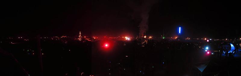 Burningman at night