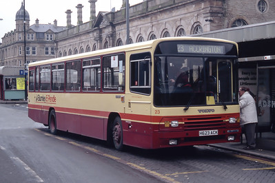 Burnley and Pendle 23 Accrington Bus Station Mar 94