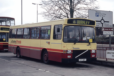 Burnley and Pendle 27 Burnley Bus Station Mar 94