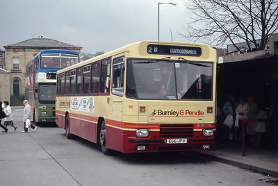 Burnley and Pendle 66 Burnley Bus Station Mar 94