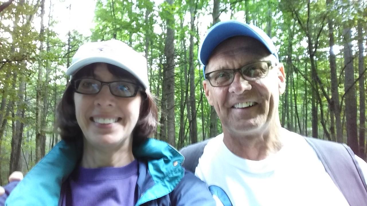 Selfie along the trail.