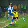 Picture: Richard Burley/Epic Action Imagery <br /> <br /> Burton Albion v Bristol Rovers - SkyBet League One - 02/03/2021<br /> <br /> Pictured: Ryan Edwards (Burton Albion) hassles and harries Sam Nicholson (Bristol Rovers) during the SkyBet League 1  match between Burton Albion and Bristol Rovers at the Pirelli Stadium on Tuesday 2nd March 2021.