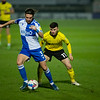 Picture: Richard Burley/Epic Action Imagery <br /> <br /> Burton Albion v Bristol Rovers - SkyBet League One - 02/03/2021<br /> <br /> Pictured: Jonny Smith (Burton Albion) keeps the pressure on Luke Leahy (Bristol Rovers) during the SkyBet League 1  match between Burton Albion and Bristol Rovers at the Pirelli Stadium on Tuesday 2nd March 2021.