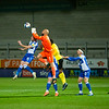 Picture: Richard Burley/Epic Action Imagery <br /> <br /> Burton Albion v Bristol Rovers - SkyBet League One - 02/03/2021<br /> <br /> Pictured: Jordi van Stappershoef (Bristol Rovers) is forced to punch clear  during the SkyBet League 1  match between Burton Albion and Bristol Rovers at the Pirelli Stadium on Tuesday 2nd March 2021.