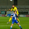 Picture: Richard Burley/Epic Action Imagery <br /> <br /> Burton Albion v Bristol Rovers - SkyBet League One - 02/03/2021<br /> <br /> Pictured: Michael Bostwick (Burton Albion) gets above  during the SkyBet League 1  match between Burton Albion and Bristol Rovers at the Pirelli Stadium on Tuesday 2nd March 2021.
