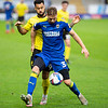 Picture: Epic Action Imagery <br /> <br /> Burton Albion v AFC Wimbledon - SkyBet League One - 24/10/2020<br /> <br /> Pictured: Daniel Csoka of AFC Wimbledon on the ball holding off Kane Hemmings of Burton Albion  during the SkyBet League 1  match between Burton Albion and AFC Wimbledon at the Pirelli Stadium on Saturday 24th October 2020.