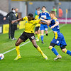Picture: Epic Action Imagery <br /> <br /> Burton Albion v AFC Wimbledon - SkyBet League One - 24/10/2020<br /> <br /> Pictured: Lucas Akins of Burton Albion on the ball holding off Daniel Csoka of AFC Wimbledon during the SkyBet League 1  match between Burton Albion and AFC Wimbledon at the Pirelli Stadium on Saturday 24th October 2020.