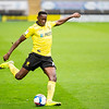 Picture: Epic Action Imagery <br /> <br /> Burton Albion v AFC Wimbledon - SkyBet League One - 24/10/2020<br /> <br /> Pictured: Lucas Akins of Burton Albion crossing the ball during the SkyBet League 1  match between Burton Albion and AFC Wimbledon at the Pirelli Stadium on Saturday 24th October 2020.