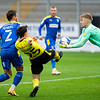 Picture: Epic Action Imagery <br /> <br /> Burton Albion v AFC Wimbledon - SkyBet League One - 24/10/2020<br /> <br /> Pictured: Ciaran Gilligan of Burton Albion attempts to kick the ball as AFC Wimbledon Goalkeeper Connal Trueman  catches the ball  during the SkyBet League 1  match between Burton Albion and AFC Wimbledon at the Pirelli Stadium on Saturday 24th October 2020.