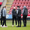 Picture: Richard Burley/Epic Action Imagery <br /> <br /> Crewe Alexandra v Burton Albion - SkyBet League One - 13/03/2021<br /> <br /> Pictured: Some of the Burton players on the pitch ahead of the SkyBet League 1 match between Crewe Alexandra and Burton Albion at Gresty Road on Saturday 13th March 2021.