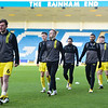 Picture: Andrew Sims/ Epic Action Imagery<br /> <br /> Gillingham v Burton Albion - SkyBet League One - 09/01/2021<br /> <br /> Pictured: Burton Warming up during the SkyBet League One match between Gillingham and Burton Albion  at the Priestfield Stadium on Saturday 9th January 2021