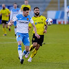 Picture: Jamie Thursfield /Epic Action Imagery <br /> <br /> Burton Albion v Ipswich Town - SkyBet League One - 16/01/2021<br /> <br /> Pictured: Kane Hemmings (Burton Albion) and Reece Burke (hull) during the SkyBet League 1  match between Burton Albion and Ipswich Town at the Pirelli Stadium on Saturday 16th January 2021.