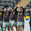 Picture: Alex Dodd/Epic Action Imagery <br /> <br /> Hull City v Burton Albion - SkyBet League One - 14/11/2020<br /> <br /> Pictured: Burton Albion players warm up before the SkyBet League 1  match between Hull City and Burton Albion a at the KCOM Stadium on Saturday 14th November 2020.