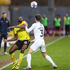 Picture: Alex Dodd/ Epic Action Imagery<br /> <br /> Burton Albion v Oxford United- SkyBet League One - 02/01/2021<br /> <br /> Pictured: Lucas Akins (Burton Albion) battles with Josh Ruffels (Oxford United) during the SkyBet League One match between Burton Albion and Oxford United at the Pirelli Stadium on Saturday 2nd January 2021