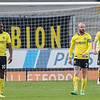 Picture: Alex Dodd/ Epic Action Imagery<br /> <br /> Burton Albion v Oxford United- SkyBet League One - 02/01/2021<br /> <br /> Pictured: Burton Albion players react to conceding the first goal during the SkyBet League One match between Burton Albion and Oxford United at the Pirelli Stadium on Saturday 2nd January 2021