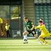 Picture: Suze EylesEpic Action Imagery <br /> <br /> Plymouth Argyle v Burton Albion - SkyBet League One - 10/10/2020<br /> <br /> Pictured: Joe Powell (Burton Albion) & Lucas Akins (Burton Albion) in action with Conor Grant (Plymouth Argyle) during the SkyBet League 1  match between Plymouth Argyle and Burton Albion at Home Park on Saturday 10th October 2020.