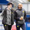 Picture: Richard Burley/Epic Action Imagery <br /> <br /> Portsmouth v Burton Albion - SkyBet League One - 10/04/2021<br /> <br /> Pictured: Joe Powell (Burton Albion) and Dino Maamria (Burton Albion) ahead of the SkyBet League 1  match between Portsmouth and Burton Albion  at Fratton Park on Saturday 10th April 2021.