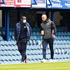Picture: Richard Burley/Epic Action Imagery <br /> <br /> Portsmouth v Burton Albion - SkyBet League One - 10/04/2021<br /> <br /> Pictured: Jimmy Floyd Hasselbaink (manager, Burton Albion) and Dino Maamria (Burton Albion) arrive at the ground ahead of the SkyBet League 1  match between Portsmouth and Burton Albion  at Fratton Park on Saturday 10th April 2021.