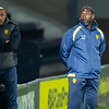 Picture: Richard Burley/Epic Action Imagery <br /> <br /> Burton Albion v Shrewsbury Town - SkyBet League One - 23/03/2021<br /> <br /> Pictured: Jimmy Floyd Hasselbaink (manager, Burton Albion) and Dino Maamria (Burton Albion) during the SkyBet League 1  match between Burton Albion and Shrewsbury Town at the Pirelli Stadium on Tuesday 23rd March 2021.
