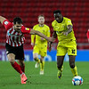 Picture: Alex Dodd/ Epic Action imagery<br /> <br /> Sunderland v Burton Albion - SkyBet League 1 - 01/12/2020<br /> <br /> Pictured: Burton Albion's Lucas Akins holds off the challenge from Sunderland's Bailey Wright during the SkyBet League 1 match between Sunderland and Burton Albion at The Stadium of Light on Tuesday 1st December 2020.
