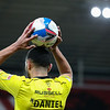 Picture: Alex Dodd/ Epic Action imagery<br /> <br /> Sunderland v Burton Albion - SkyBet League 1 - 01/12/2020<br /> <br /> Pictured: Burton Albion's Colin Daniel takes a throw in during the SkyBet League 1 match between Sunderland and Burton Albion at The Stadium of Light on Tuesday 1st December 2020.