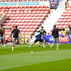 Picture: Andrew Sims/Epic Action Imagery <br /> <br /> Swindon Town v Burton Albion - SkyBet League One - 26/09/2020<br /> <br /> Pictured: Burton warming up during the SkyBet League 1  match between Swindon Town and Burton Albion at the County Ground on Saturday 26th September 2020.