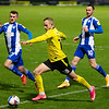 Picture: Richard Burley/ Epic Action Imagery<br /> <br /> Burton Albion v Wigan Athletic- SkyBet League One - 29/12/2020<br /> <br /> Pictured: Charles Vernam (Burton Albion) prepares to put in a cross as Tom James (Wigan Athletic) closes him down during the SkyBet League One match between Burton Albion and Wigan Athletic at the Pirelli Stadium on Tuesday 29th December 2020.