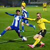 Picture: Richard Burley/ Epic Action Imagery<br /> <br /> Burton Albion v Wigan Athletic- SkyBet League One - 29/12/2020<br /> <br /> Pictured: Oliver Crankshaw (Wigan Athletic) can't deny a cross from Charles Vernam (Burton Albion) getting into the box during the SkyBet League One match between Burton Albion and Wigan Athletic at the Pirelli Stadium on Tuesday 29th December 2020.
