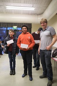 William Stoeber and Jaden Jermy - joint winners in Under 18s (5 points)