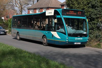 4211-YJ61 CJY on Church Road, Bookham.
