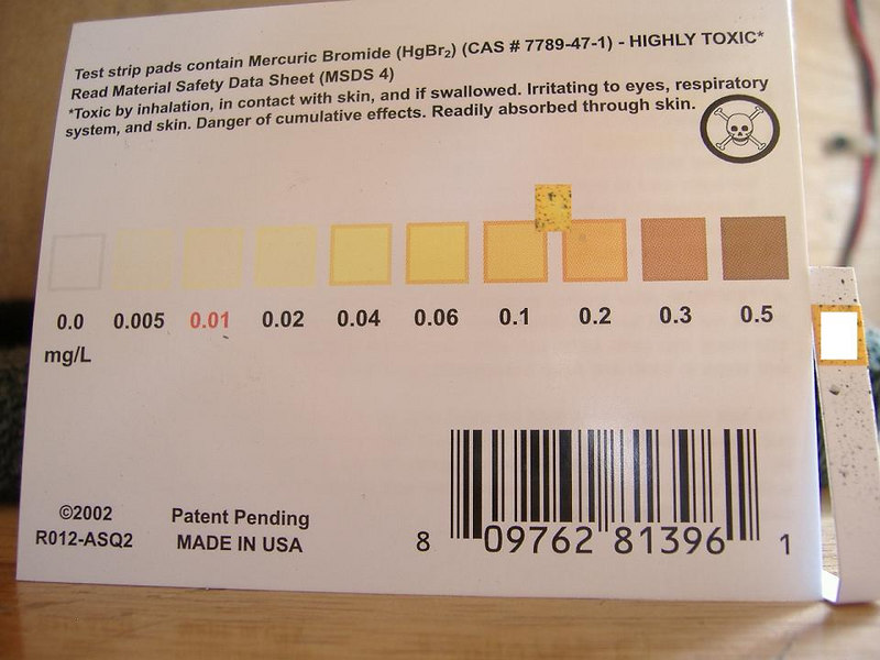 "The results of the ""before"" test...well above the EPA drinking water standard for arsenic of 10 ppb (parts per billion.)"