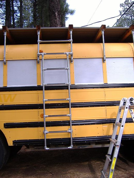 New configuration, front view, with non-skid applied to rungs.